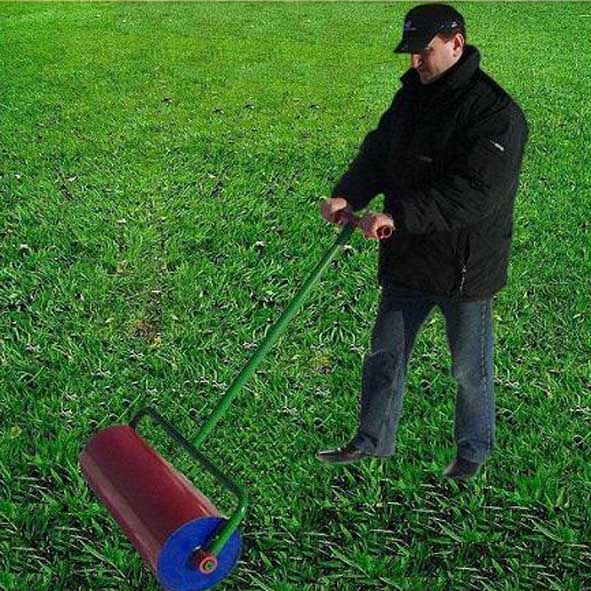 Каток садовый для укатки газона своими руками 86